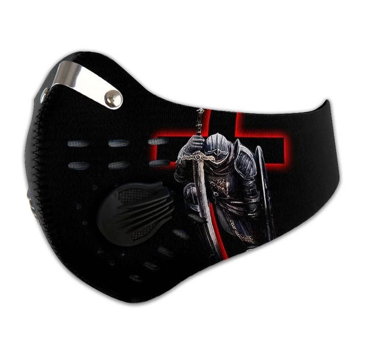 Knights templar i bow to lord filter activated carbon face mask 1