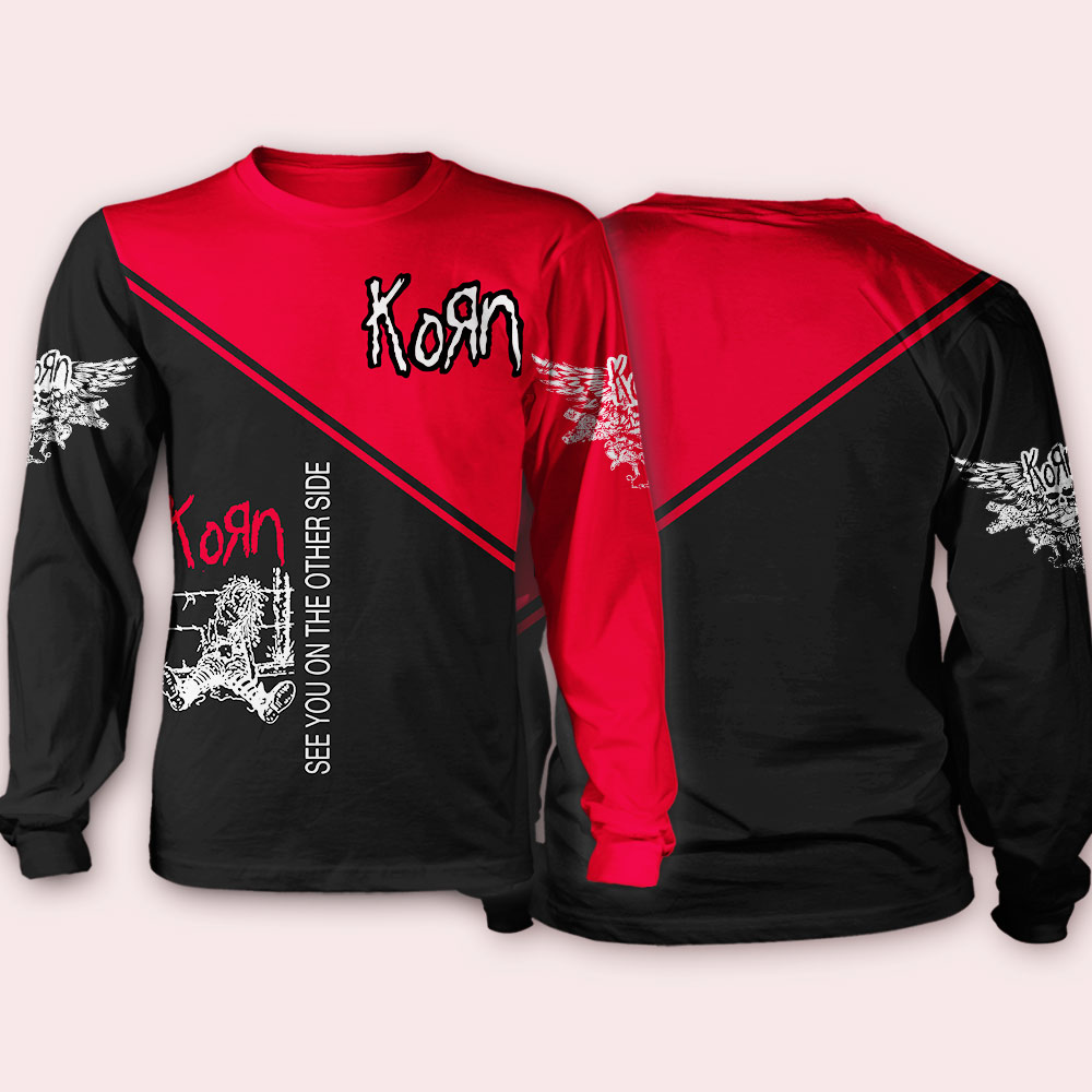 Korn see you on the other side full over printed sweatshirt