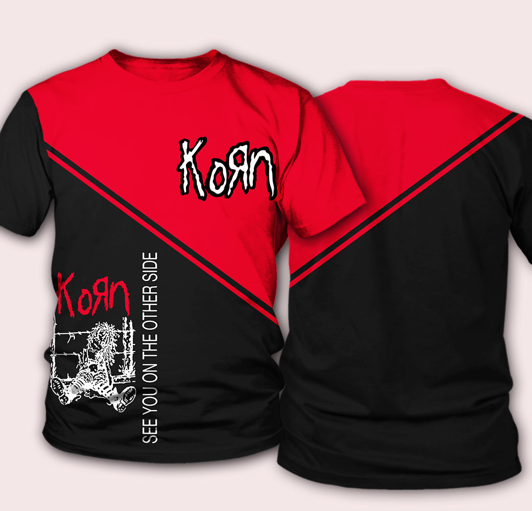 Korn see you on the other side full over printed tshirt