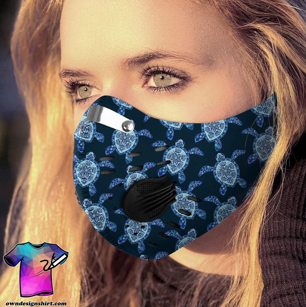 Love sea turtle carbon pm 2,5 face mask