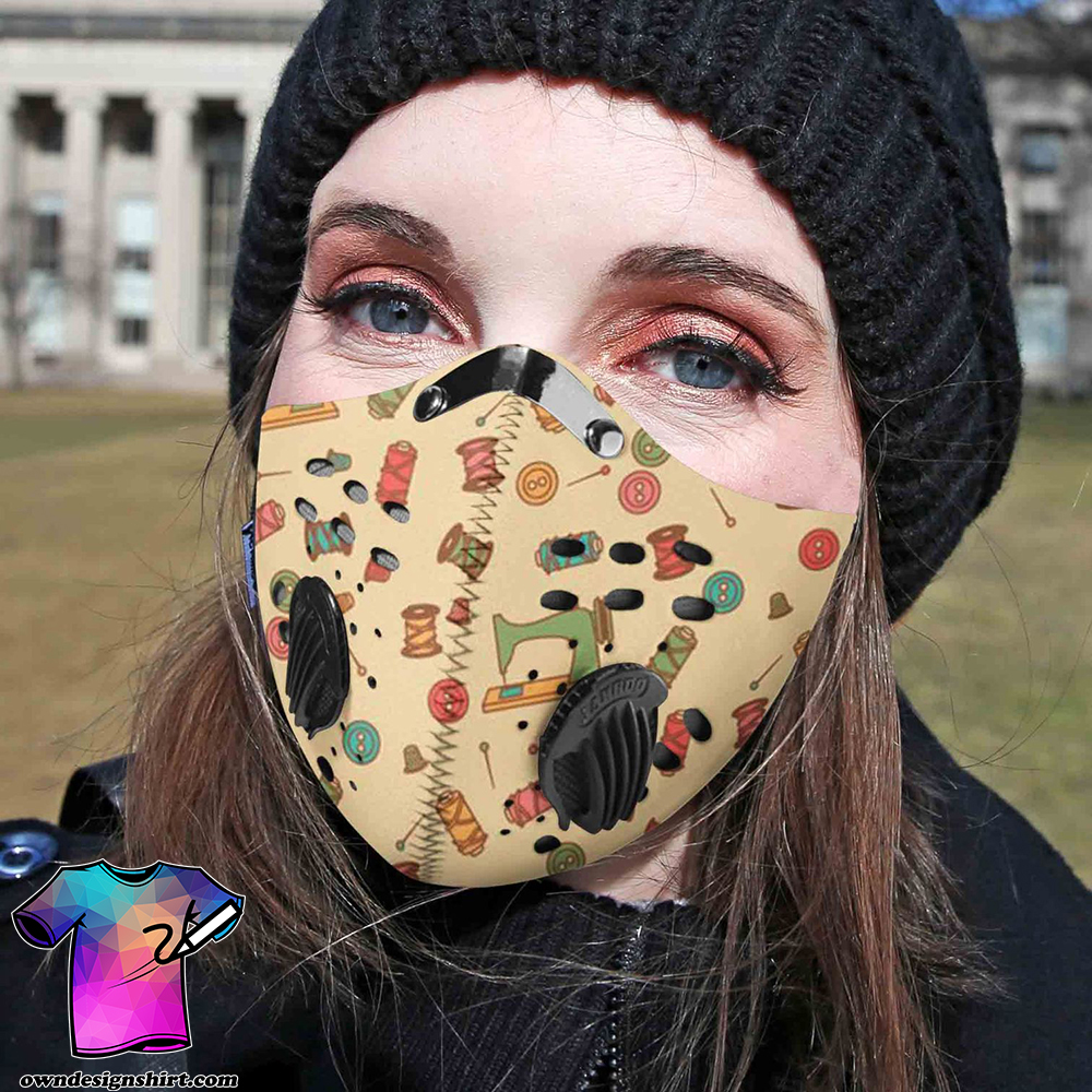 Love sewing carbon pm 2,5 face mask