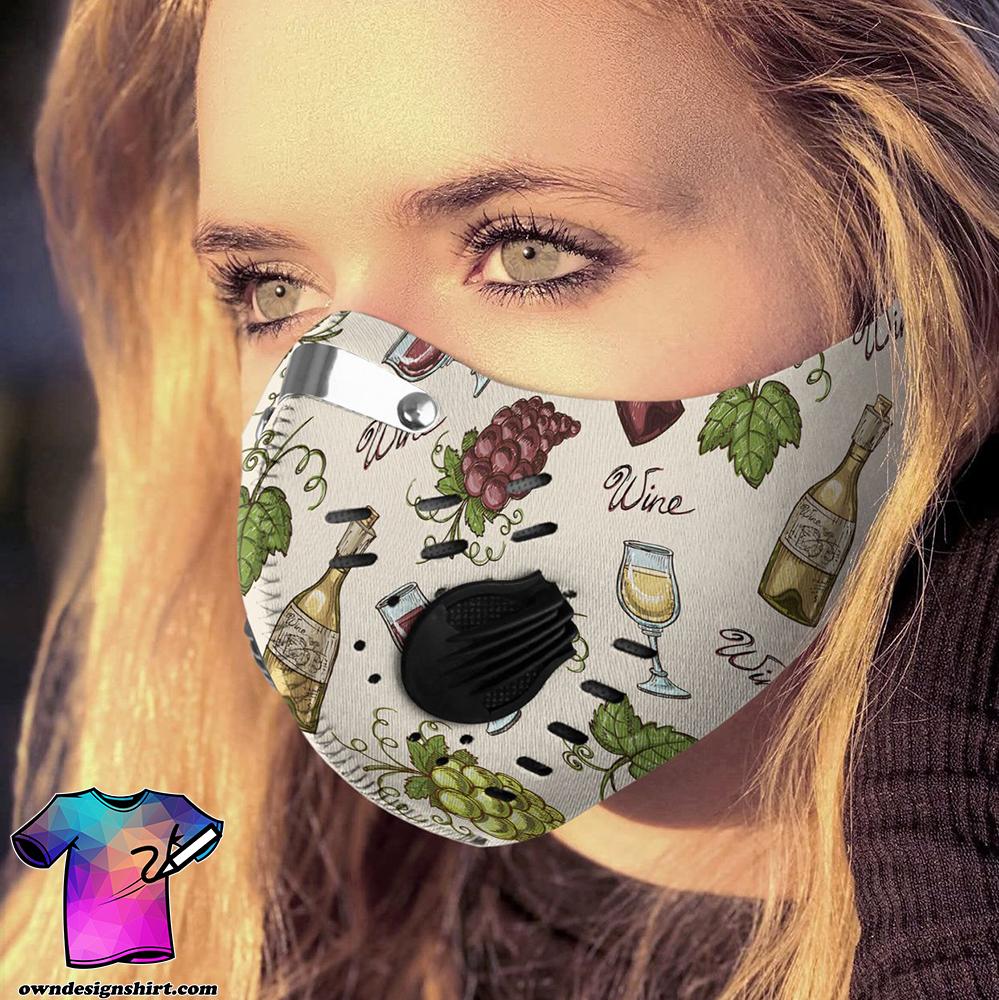Love wine carbon pm 2,5 face mask