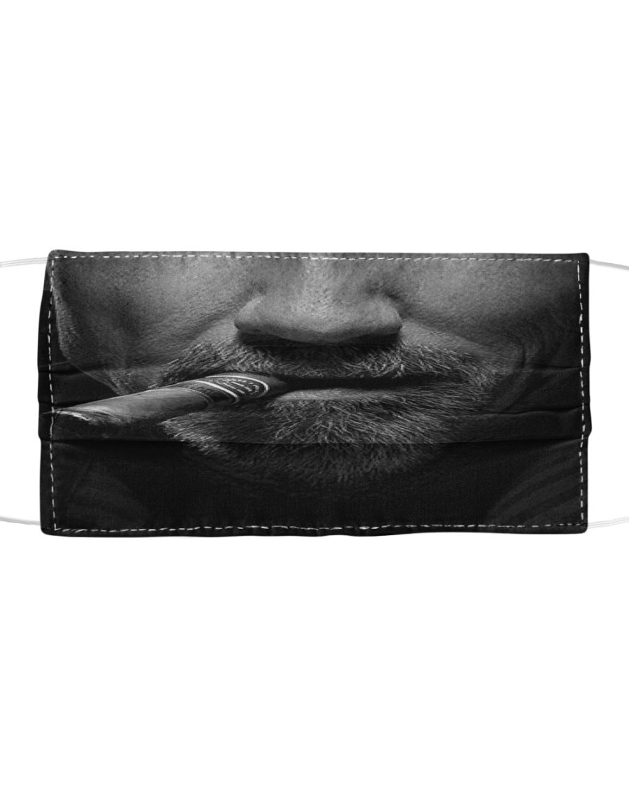 Man with cigar anti-dust cotton face mask 1