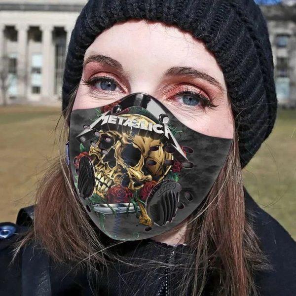 Metallica skull carbon pm 2,5 face mask 2