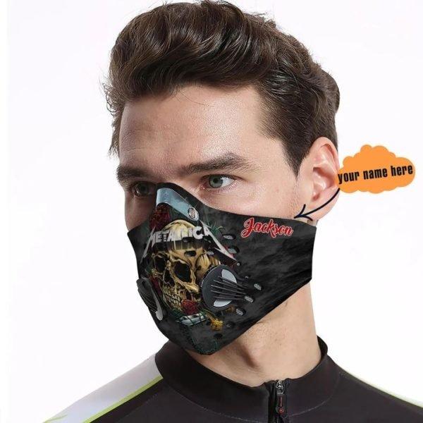 Metallica skull carbon pm 2,5 face mask 4