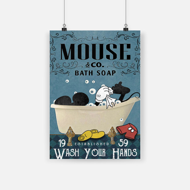 Mickey mouse and co bath soap wash your hands poster 2