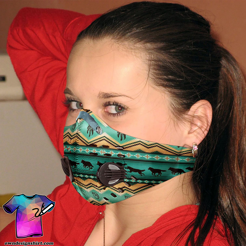 Native american carbon pm 2,5 face mask