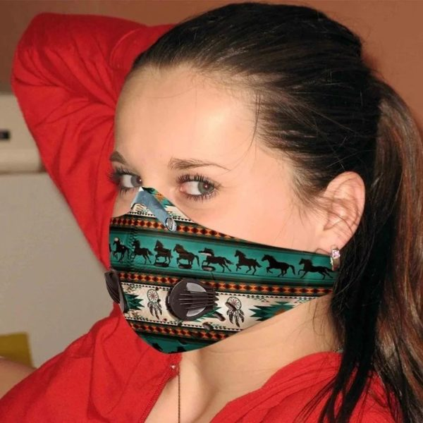 Native horse filter activated carbon pm 2,5 face mask 3