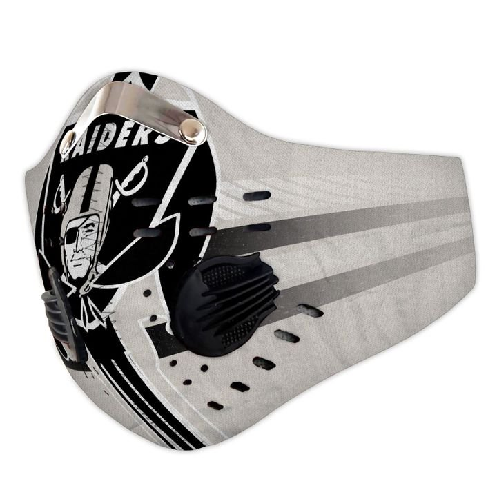 Oakland raiders football carbon pm 2,5 face mask 3