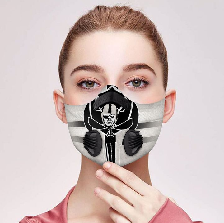 Oakland raiders football carbon pm 2,5 face mask 4