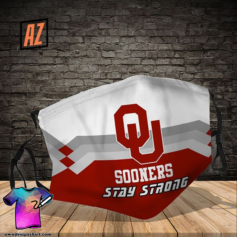 Oklahoma sooners stay strong full printing face mask