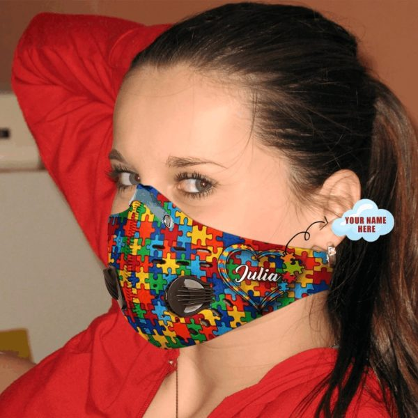 Personalized autism filter activated carbon pm 2,5 face mask 4