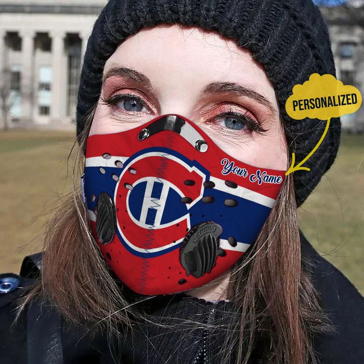 Personalized chicago cubs carbon pm 2,5 face mask 1