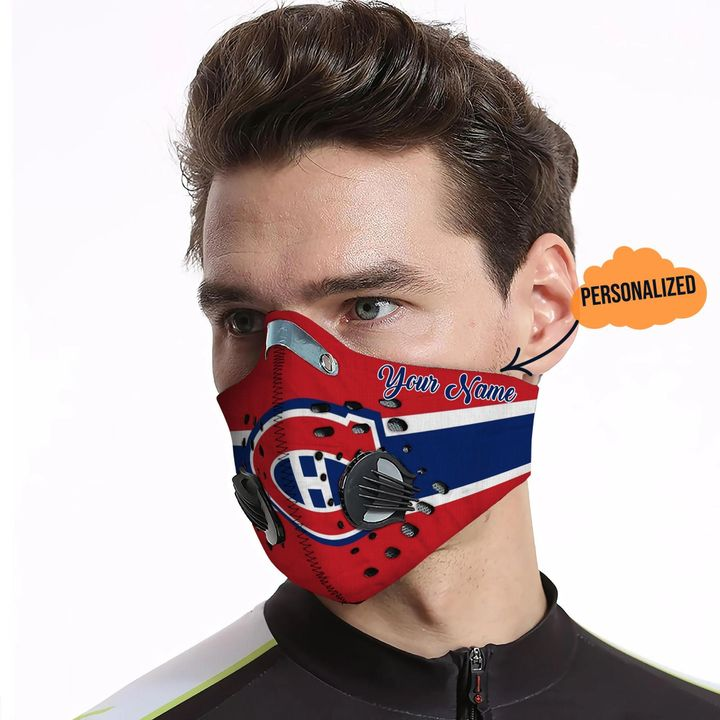 Personalized chicago cubs carbon pm 2,5 face mask 4