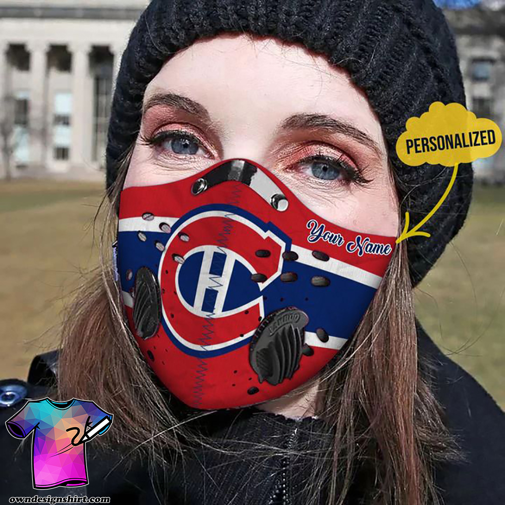 Personalized chicago cubs carbon pm 2,5 face mask