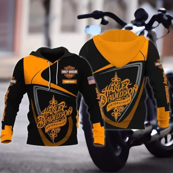 Personalized harley davidson motorcycles full over print hoodie