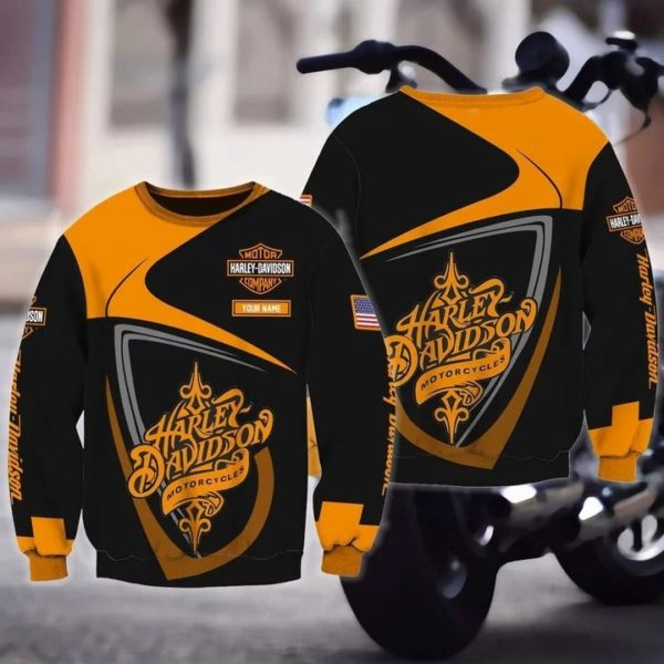 Personalized harley davidson motorcycles full over print sweatshirt