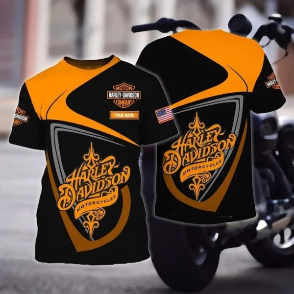 Personalized harley davidson motorcycles full over print tshirt