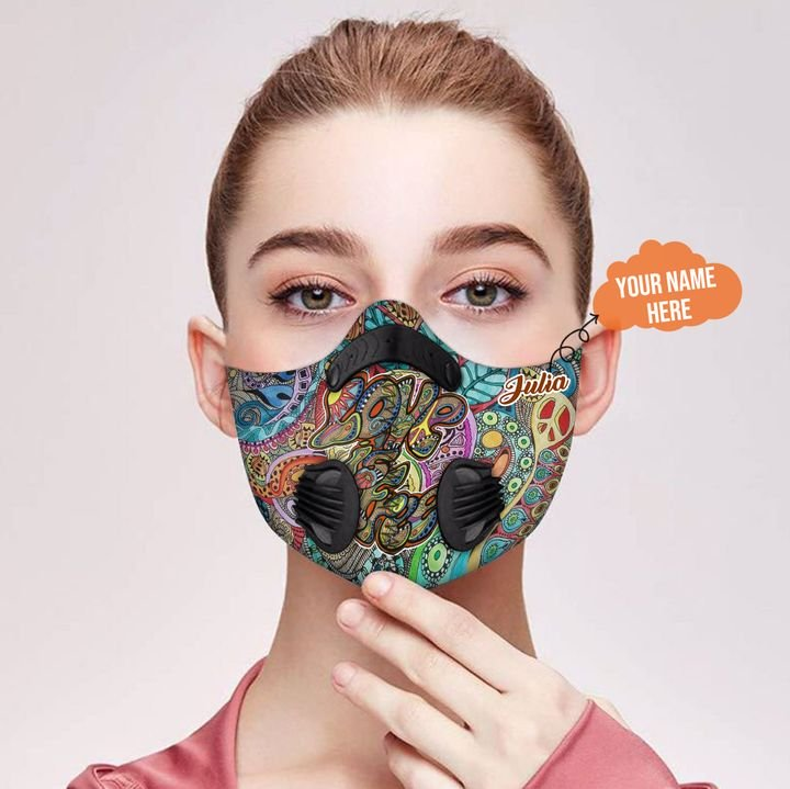 Personalized hippie carbon pm 2,5 face mask 2