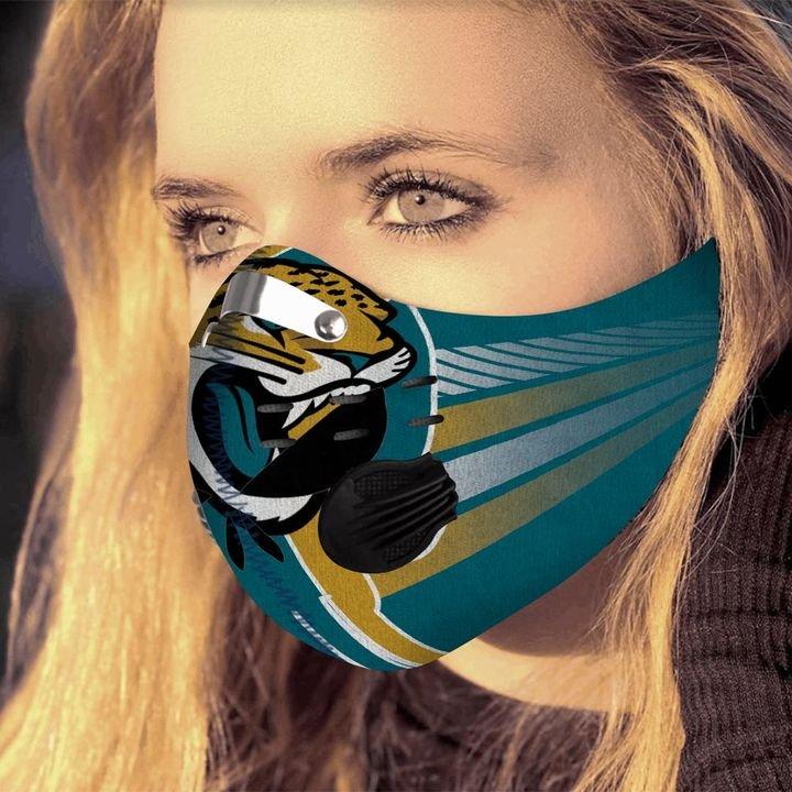 Personalized jacksonville jaguars football skull carbon pm 2,5 face mask 1