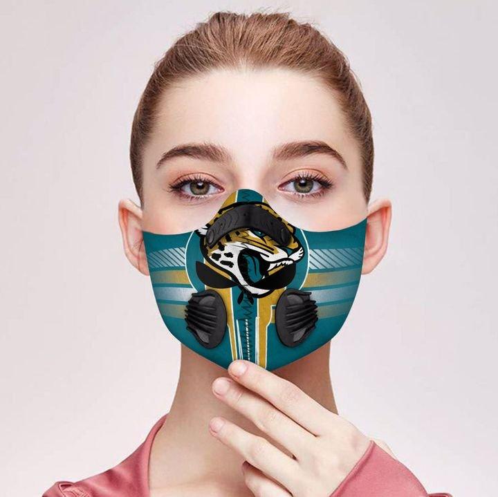 Personalized jacksonville jaguars football skull carbon pm 2,5 face mask 3