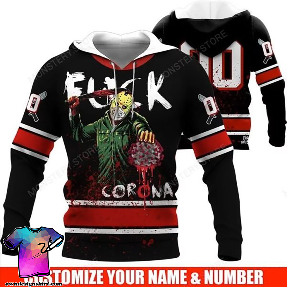 Personalized jason fuck corona full over printed shirt
