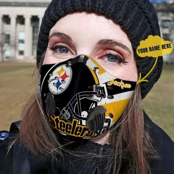 Personalized pittsburgh steelers football carbon pm 2,5 face mask 4
