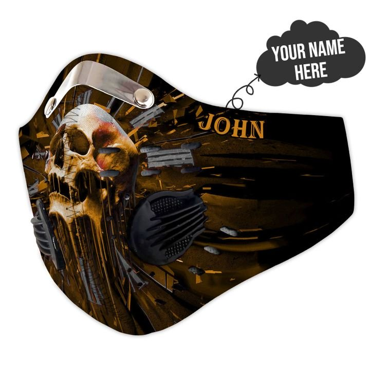 Personalized skull carbon pm 2,5 face mask 2