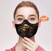 Personalized skull carbon pm 2,5 face mask 4
