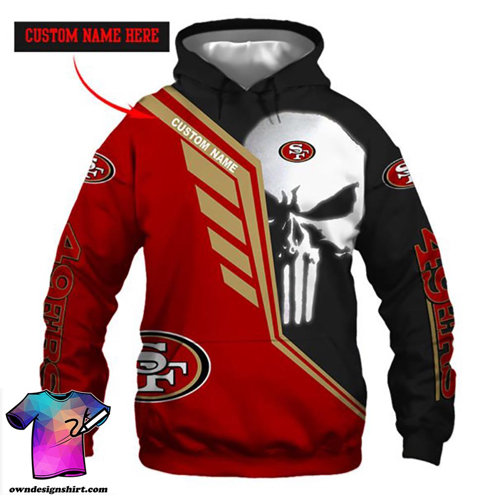 Personalized skull san francisco 49ers full over print shirt