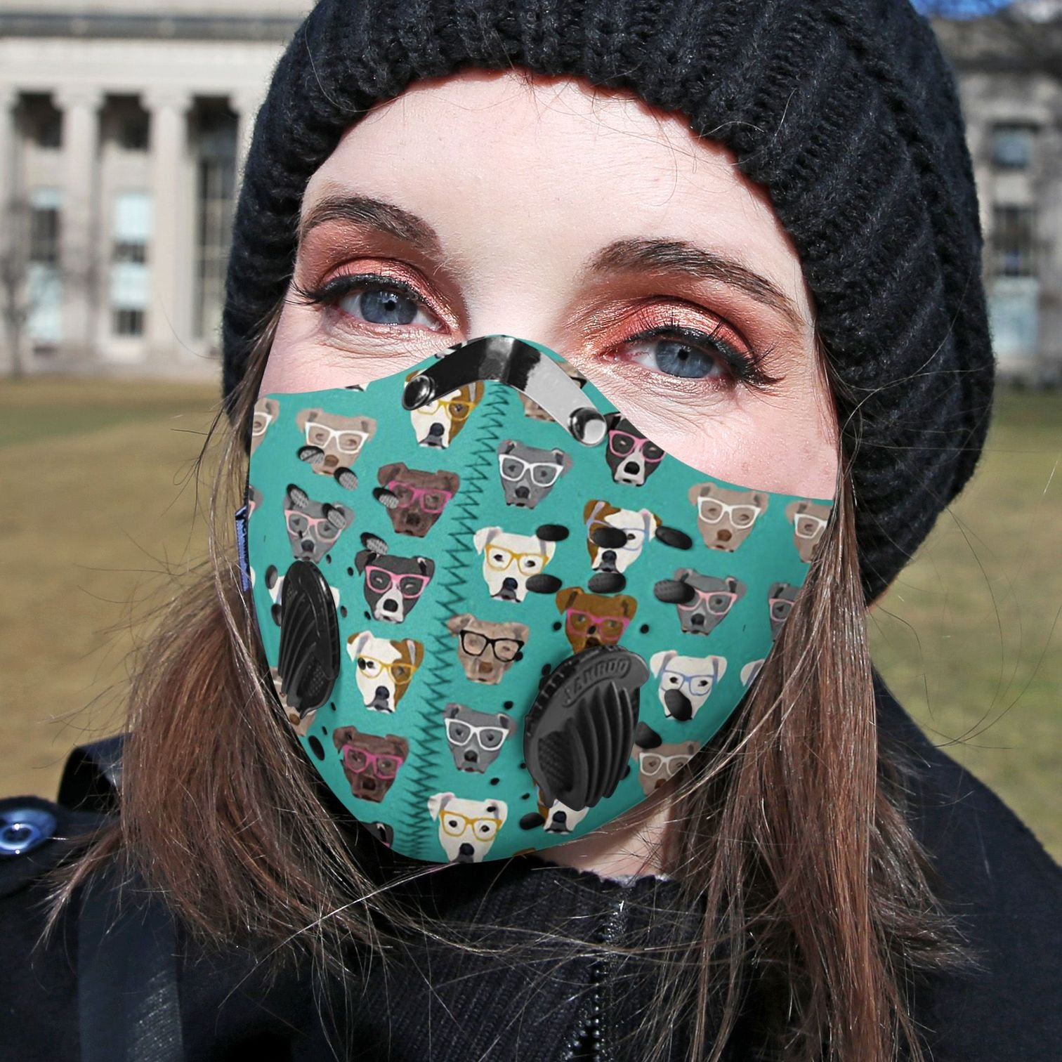 Pitbull collection carbon pm 2,5 face mask 2