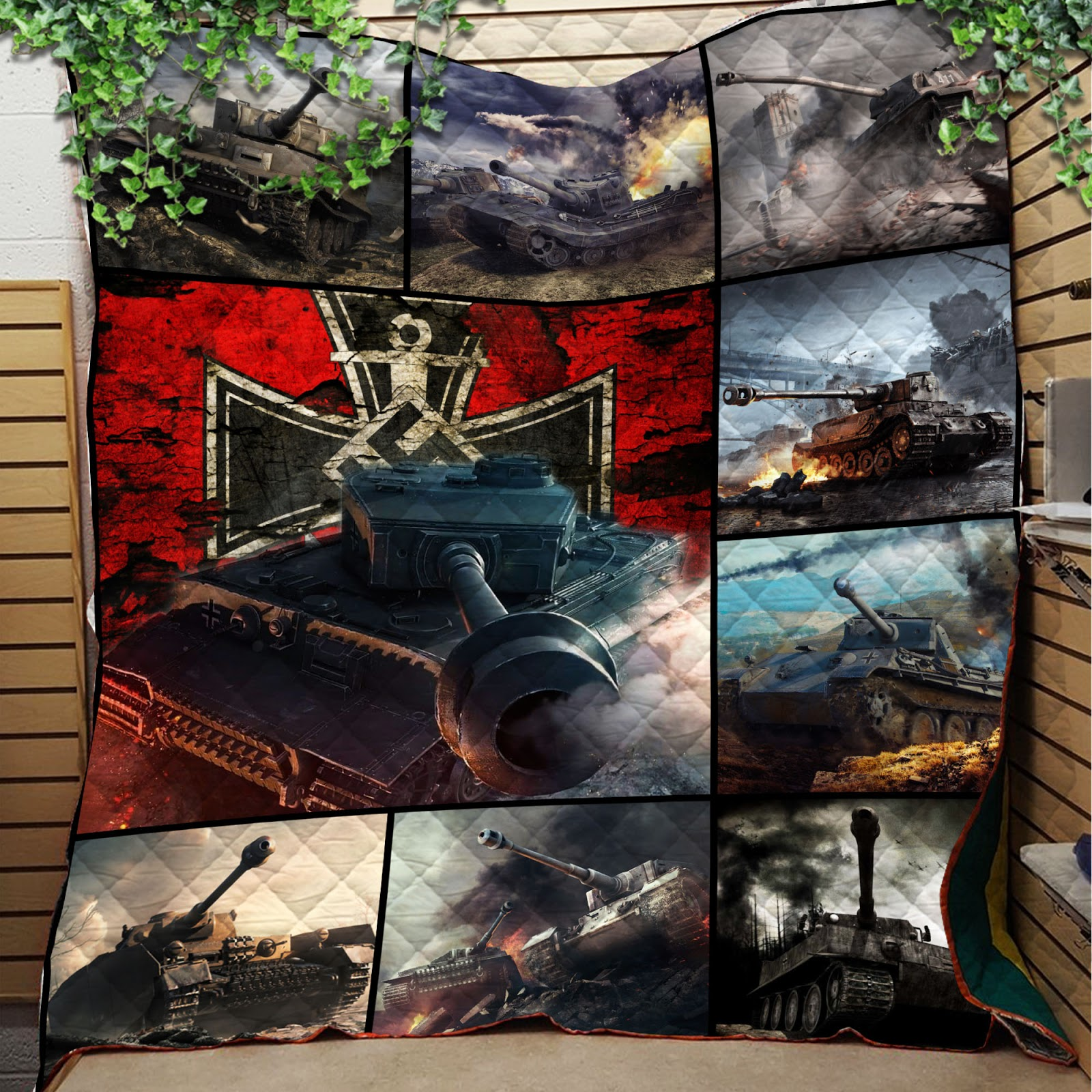 Pride of germany tank full printing quilt 1