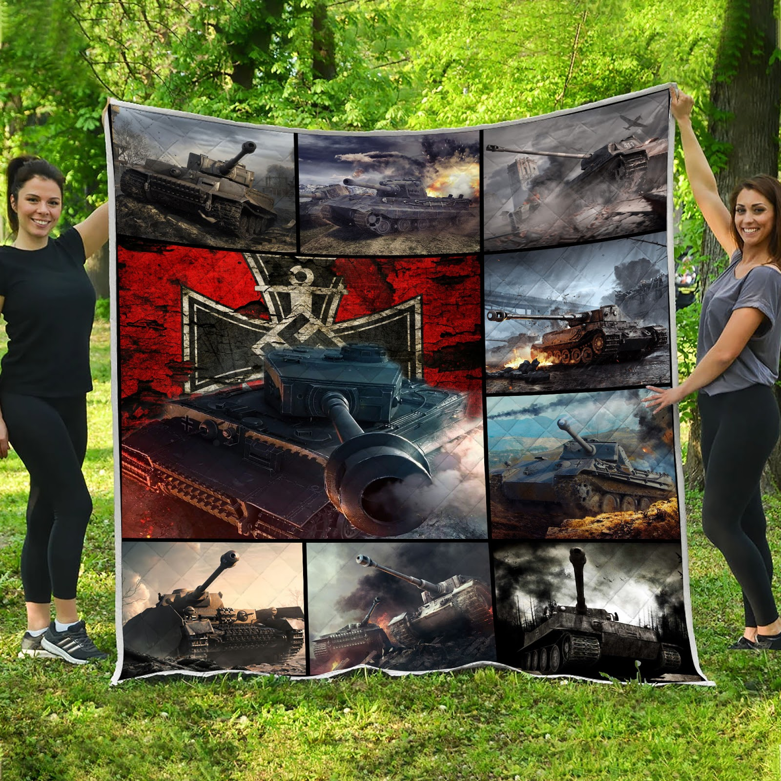 Pride of germany tank full printing quilt 2