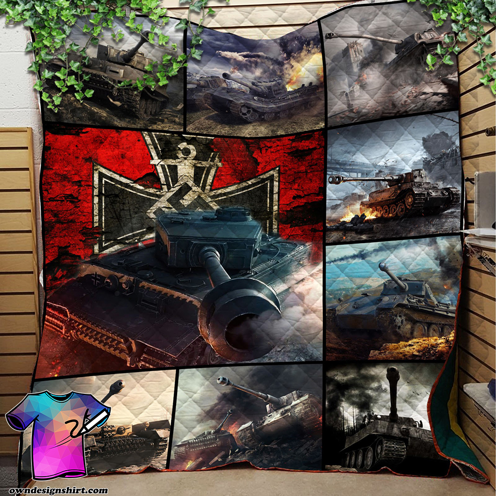 Pride of germany tank full printing quilt