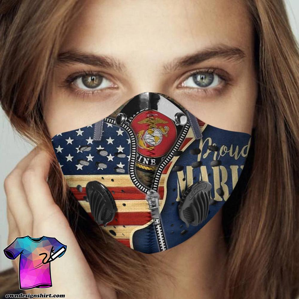 Proud marine carbon pm 2,5 face mask