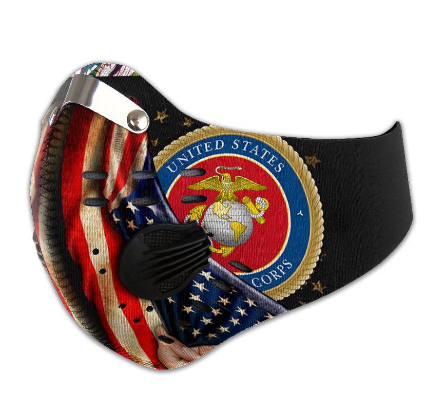 Proud marine corps carbon pm 2,5 face mask 1