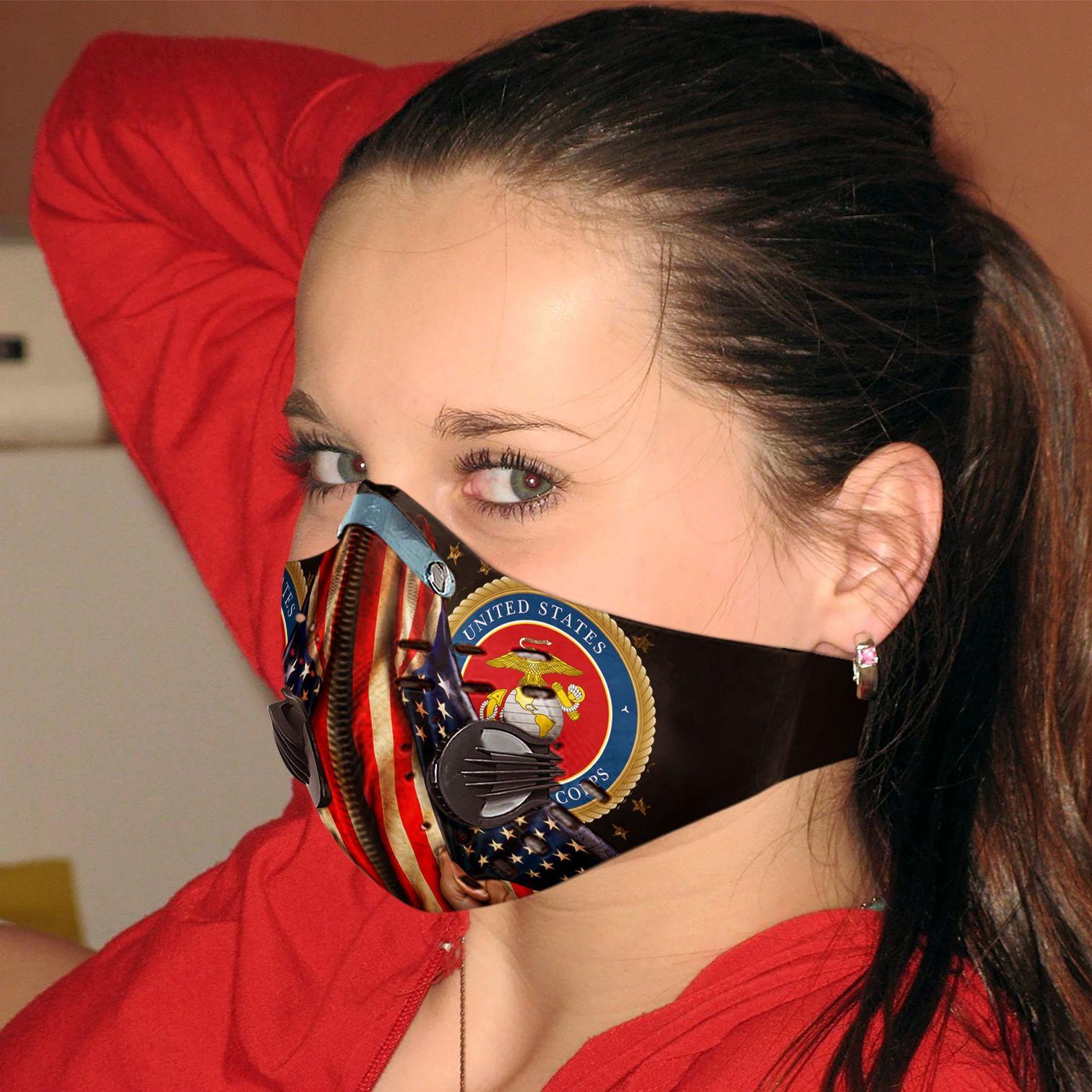 Proud marine corps carbon pm 2,5 face mask 2
