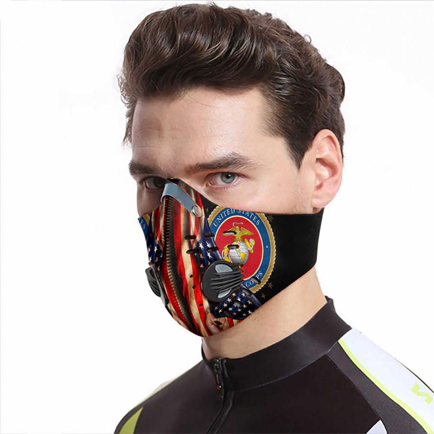 Proud marine corps carbon pm 2,5 face mask 4