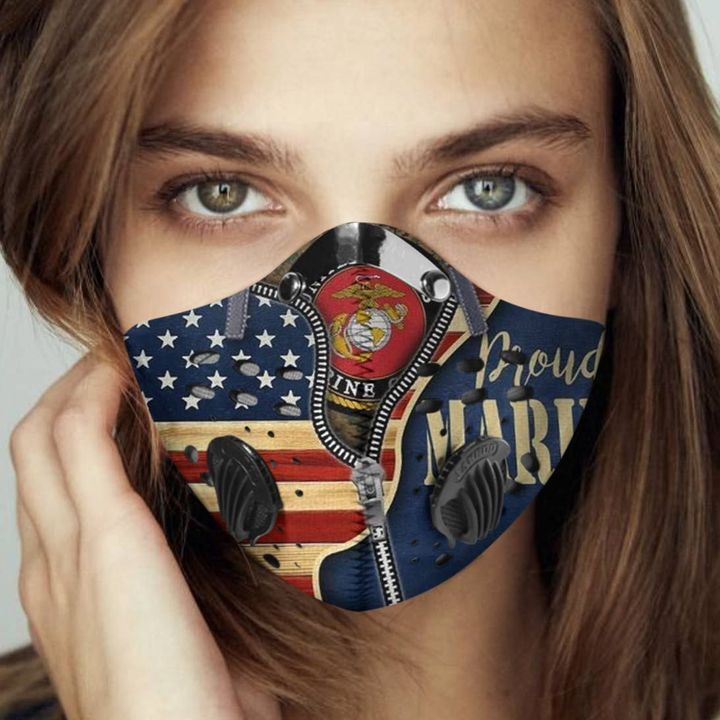 Proud united states marine corps filter activated carbon face mask 1