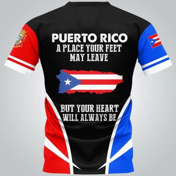 Puerto rico flag skull full over print tshirt 1