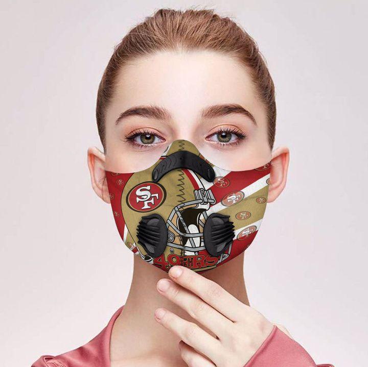 San francisco 49ers helmet filter activated carbon face mask 1