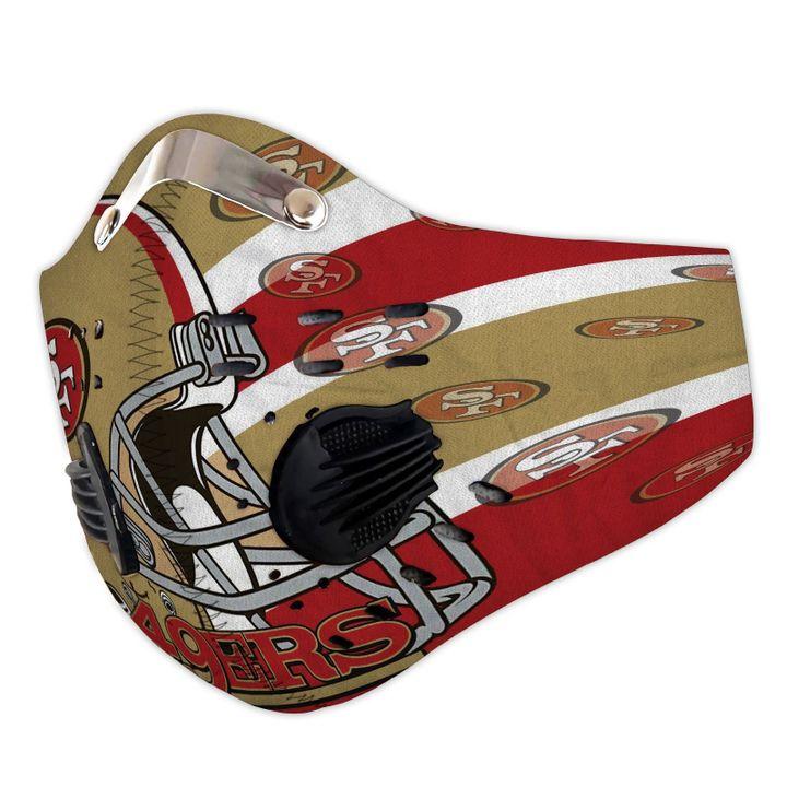 San francisco 49ers helmet filter activated carbon face mask 3