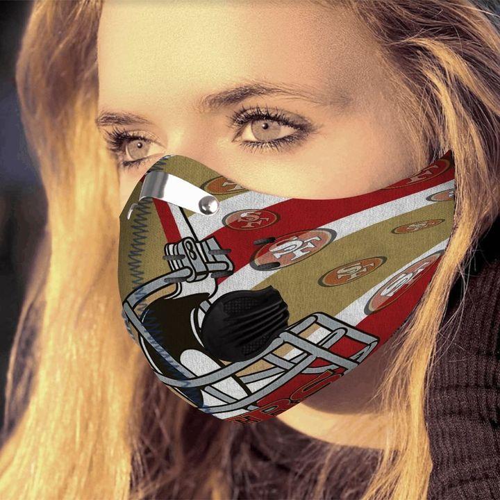 San francisco 49ers helmet filter activated carbon face mask 4