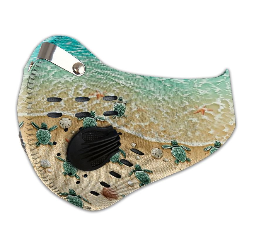 Save sea turtle carbon pm 2,5 face mask 3