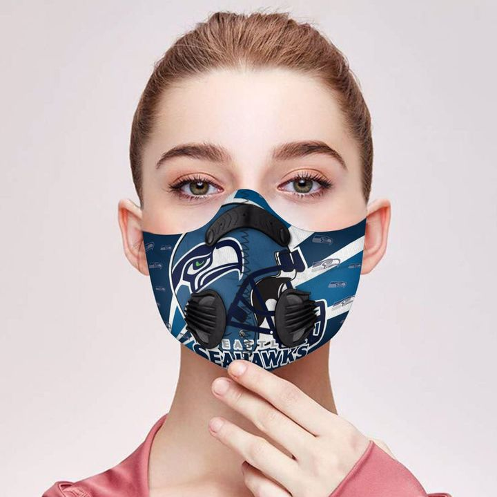 Seattle seahawks logo filter activated carbon face mask 1