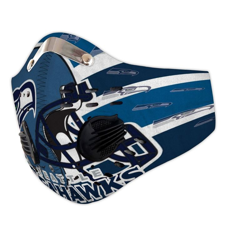 Seattle seahawks logo filter activated carbon face mask 2