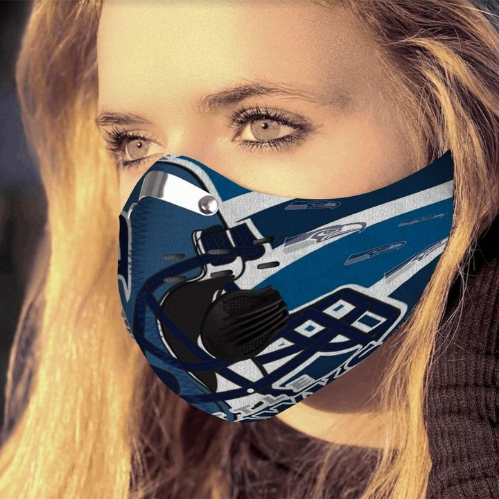 Seattle seahawks logo filter activated carbon face mask 4