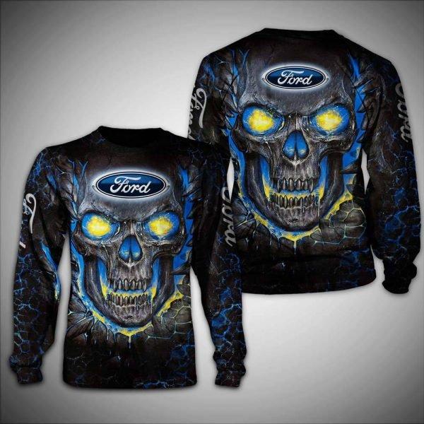 Skull ford logo full over printed sweatshirt