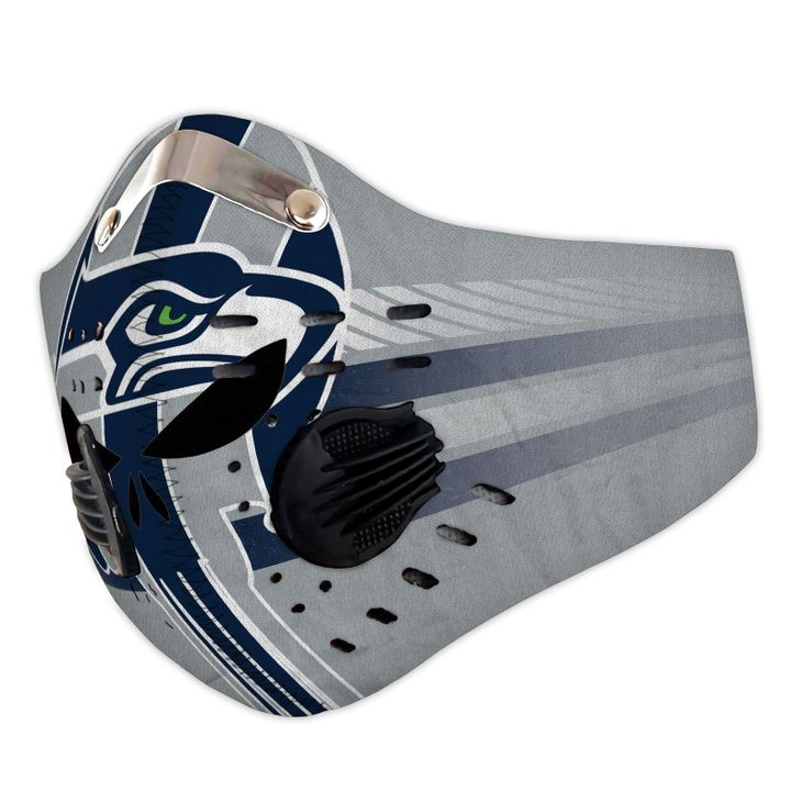 Skull seattle seahawks team filter activated carbon face mask 3