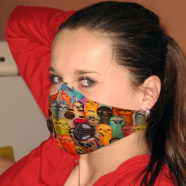 Sloth society carbon pm 2,5 face mask 1